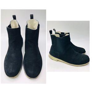 Clarks Mens Boots Black Suede Sz 10